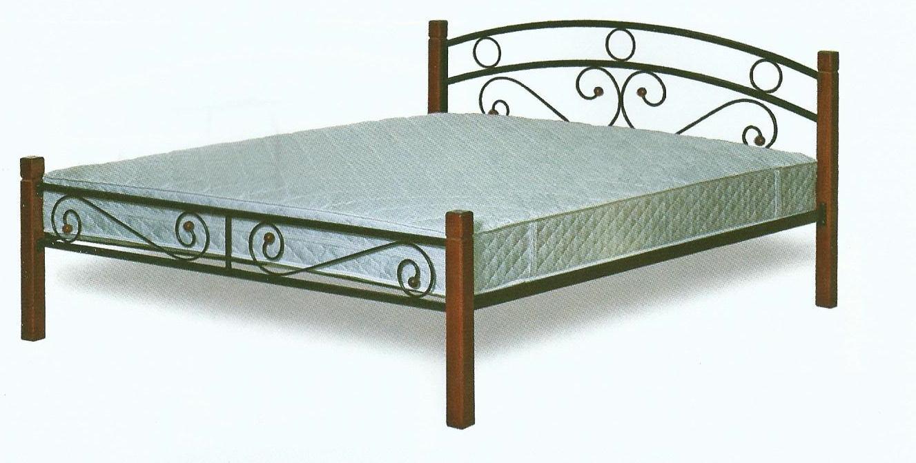 Кровати двуспальные из металла