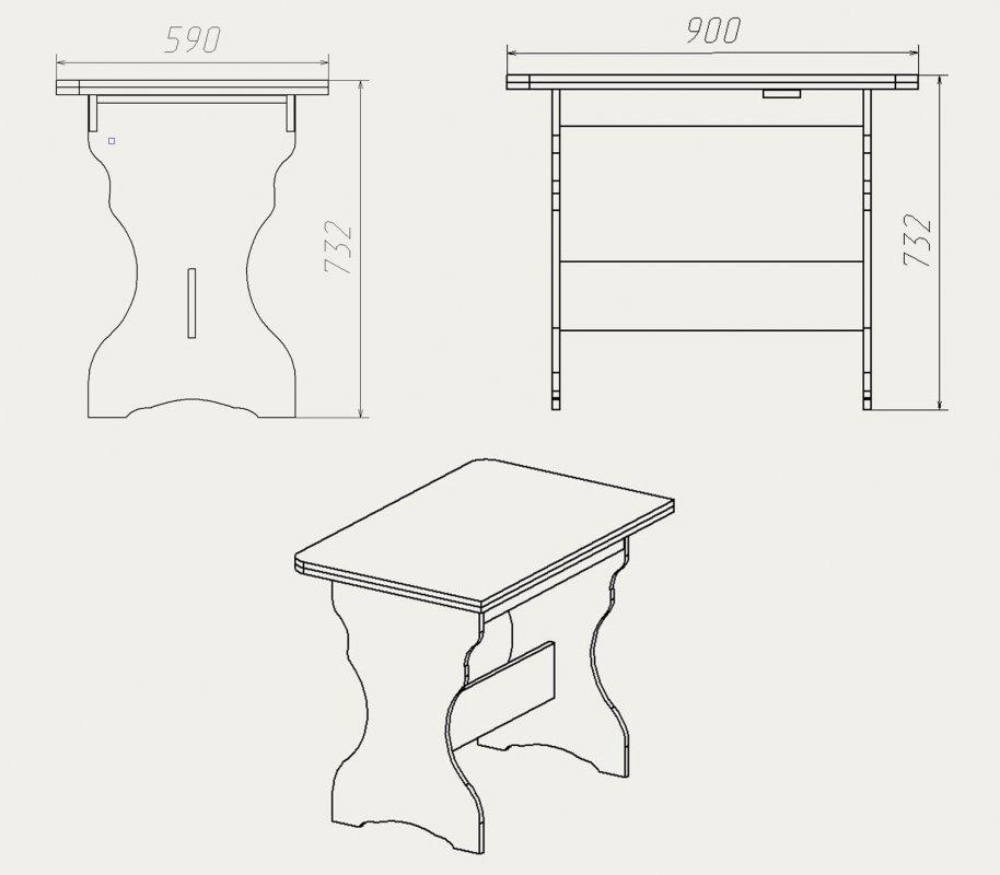 Кухонный стол своими руками схема